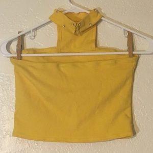 Costumes - Size Child Large Handmade Dance Costume Yellow Top